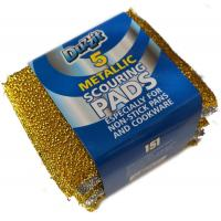 Metallic Scouring Pads 10cm x 8cm 5PC